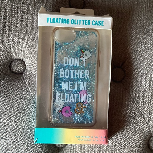 iPhone Floating Glitter Case